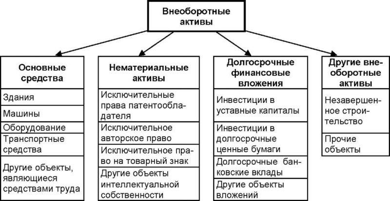 Анализ и характеристика внеоборотных активов
