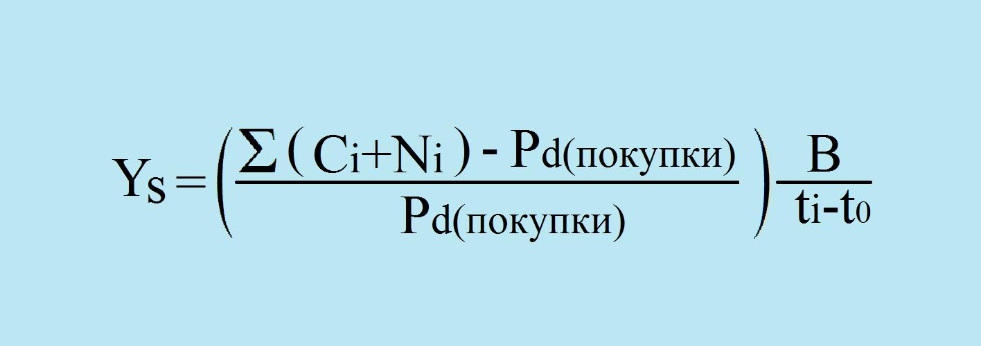 Доходность 3 (формула)